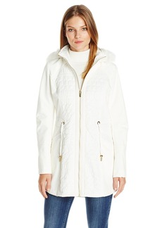 Via Spiga Women's Mixed Media Anorak Softshell  Large