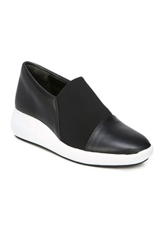 Via Spiga Women's Morgan Leather & Stretch Platform Slip-On Sneakers