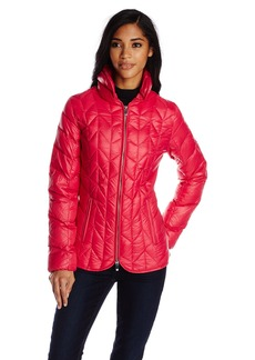 Via Spiga Women's Packable Chevron Down-Filled Hooded Coat