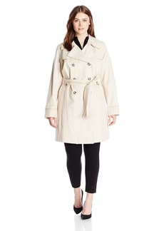 Via Spiga Women's Plus-Size Double-Breasted Trench Coat with Belt