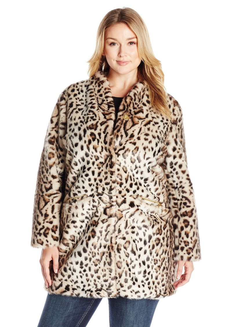 877aa915769 Via Spiga Via Spiga Women s Plus Size Faux Fur Jacket