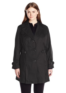 Via Spiga Women's Plus-Size Single Breasted Pleated Trench Coat  2X