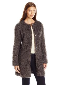 Via Spiga Women's Reverseable Ff Curly Coat  X-Large