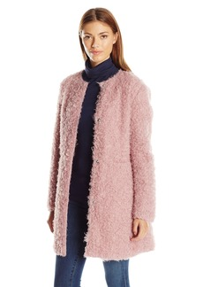 Via Spiga Women's Reverseable Ff Curly Coat