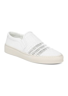 Via Spiga Women's Sara Woven Leather Slip-On Sneakers