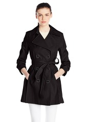 Via Spiga Women's Scarpa Mid-Weight Water Resistant Double Breasted Rain Trench Coat