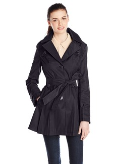 Via Spiga Women's Single-Breasted Belted Trench Coat with Hood  edium