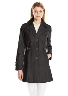 Via Spiga Women's Single Breasted Pleated Trench Coat