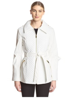 Via Spiga Women's Soft Shell Quilted Jacket  L