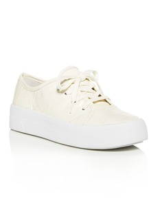Via Spiga Women's Viola Croc-Embossed Low-Top Sneakers
