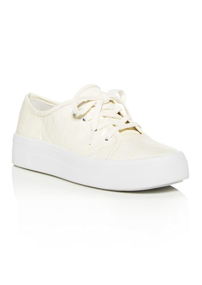 Via Spiga Women's Viola Croc-Embossed Low-Top Sneakers