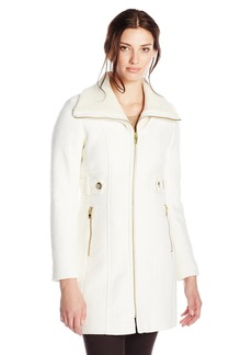 Via Spiga Women's Wool Coat with Knit Collar