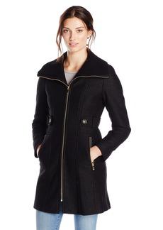 Via Spiga Women's Wool Coat with Knit Collar