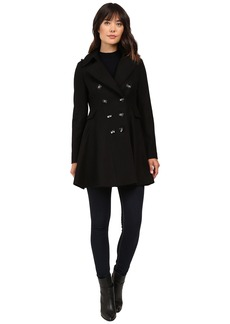 Via Spiga Wool Fit and Flare Skating Coat