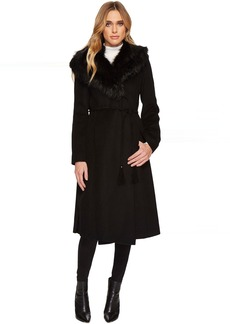 Via Spiga Wool w/ Faux Fur Collar