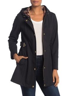 Via Spiga Water-Repellent Hooded Zip Jacket (Petite)