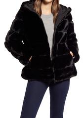 Women's Via Spiga Hooded Faux Fur Coat