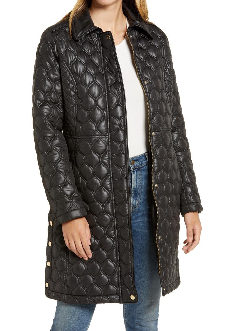 Women's Via Spiga Mix Stitch Quilted Walker Jacket