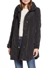 Via Spiga Packable Hooded Raincoat