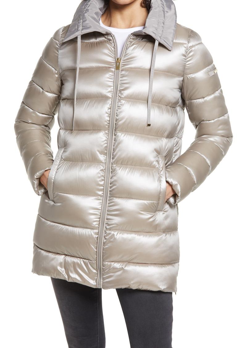 Women's Via Spiga Packable Water Repellent Puffer Jacket