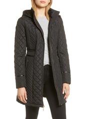 Women's Via Spiga Water Resistant Quilted Hooded Walker Jacket