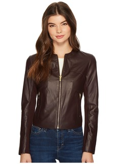Via Spiga Zipped Leather Jacket
