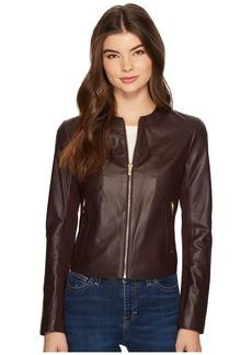 Via Spiga Zipped Leather Jacket