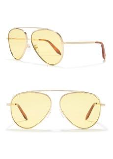 Victoria Beckham 63mm Aviator Sunglasses