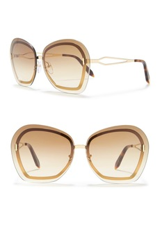 Victoria Beckham 64mm Oversize Butterfly Sunglasses