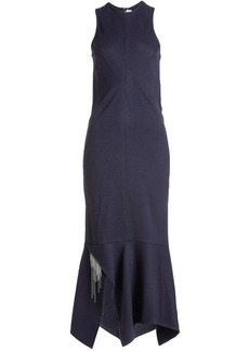 Victoria Beckham Asymmetric Dress with Chain Embellishment