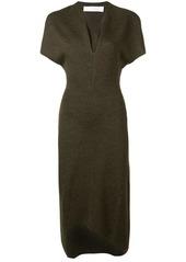 Victoria Beckham asymmetric hem knitted dress
