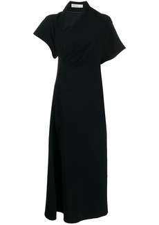 Victoria Beckham asymmetric neck midi dress