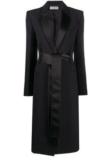 Victoria Beckham belted tuxedo coat