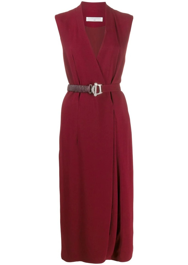Victoria Beckham belted wrap dress