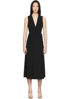 Victoria Beckham Black Back Flare Dress