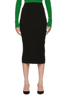 Victoria Beckham Black Signature Fitted Skirt