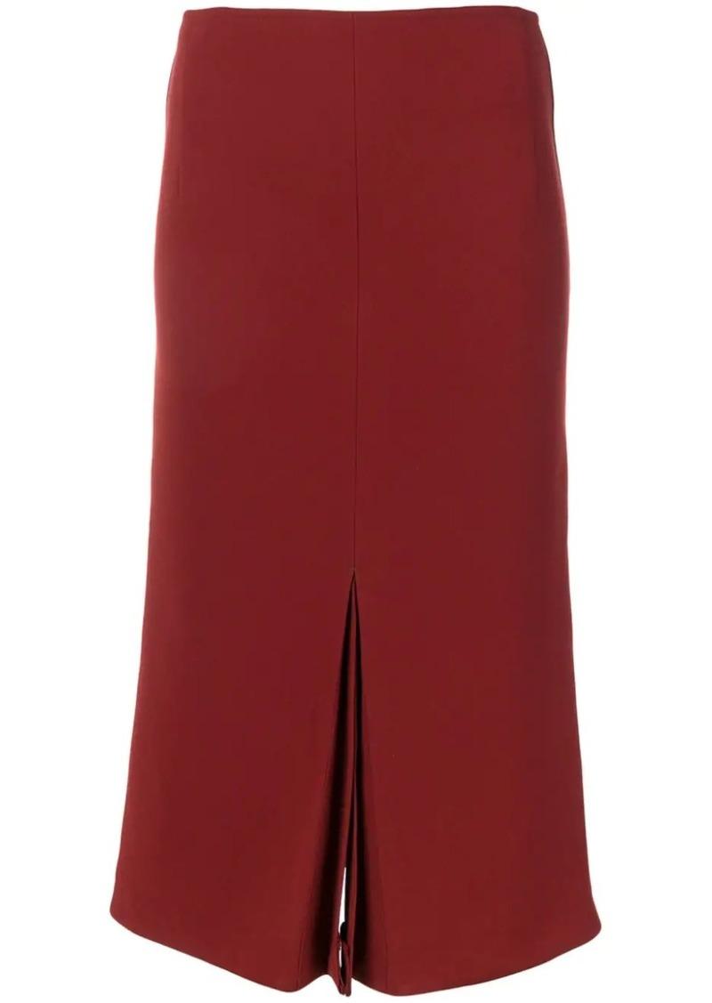 Victoria Beckham box pleat midi skirt