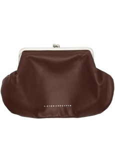Victoria Beckham Burgundy Snap Pocket Clutch