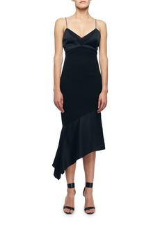 Victoria Beckham Cami-Top Asymmetric Slip Dress