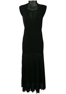 Victoria Beckham cap sleeve pleated dress