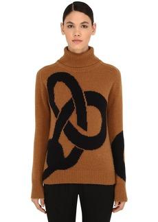 Victoria Beckham Cashmere Intarsia Knit Sweater