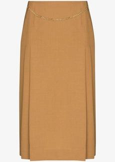 Victoria Beckham chain detail midi skirt