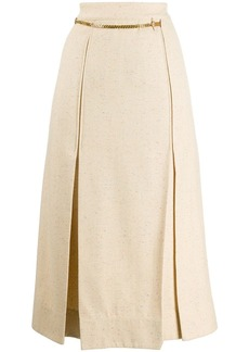 Victoria Beckham chain detail pleated skirt