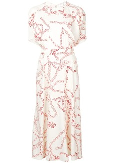 Victoria Beckham chain print dress