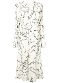 Victoria Beckham chain print shirt dress