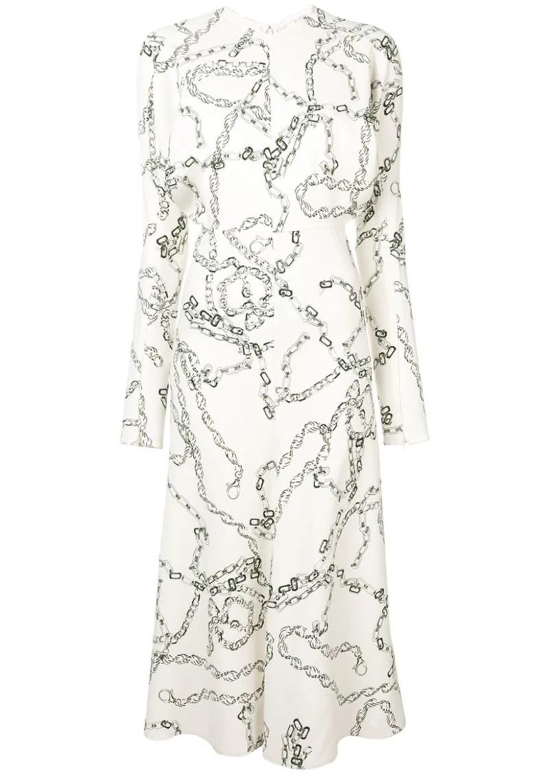 Victoria Beckham chain print shirt dress