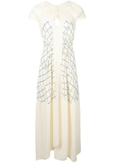Victoria Beckham checked V-neck dress