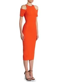 Victoria Beckham Cold-Shoulder Midi Dress