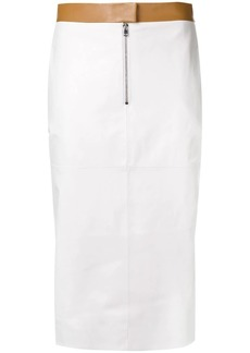 Victoria Beckham contrast pencil skirt