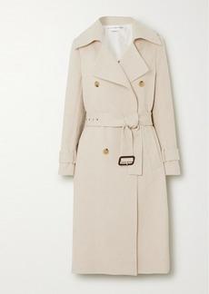 Victoria Beckham Cotton And Linen-blend Canvas Trench Coat